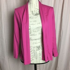 Talbots Hot Pink Jersey Knit Cardigan Size S